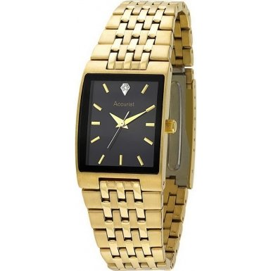 accurist-mens-quartz-watch-with-black-dial-analogue-display-and-gold-stainless-steel-bracelet-mb921b