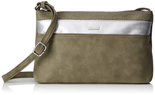 Tamaris Damen Khema Crossbody Bag S Umhängetasche, Grün (Khaki Comb), 6.5x17x27 cm