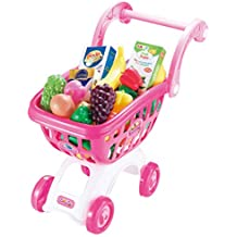 Yvsoo Supermercado de Juguetes,38Pcs Supermercado Infantil Tiendas Carrito Compra Juegos de Imitación para Niños
