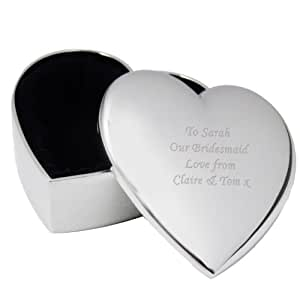 Heart Shape Trinket Box Personalised free up to 40 characters.