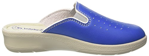Inblu 50000034, Pantoufles Ouvertes De Cheville Pour Femmes Bleu (jeans)