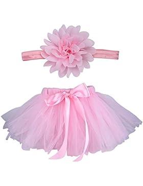 Butterem Neugeborene Baby Säugling Fotografie Stütze Kostüm Outfits Tutu Rock Outfits Blume Stirnband Set, Rosa