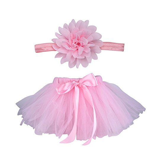 Blume Kostüm Baby - Butterem Neugeborene Baby Säugling Fotografie Stütze Kostüm Outfits Tutu Rock Outfits Blume Stirnband Set, Rosa