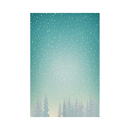 Liumiang Eco-Friendly Manual Custom Garden Flag Demonstration Flag Game Flag,Winter,Snow Falls on The Spruce Forest Fir Trees Seasonal Nature Woods ICY Cold Xmas Time Decorative, décor -
