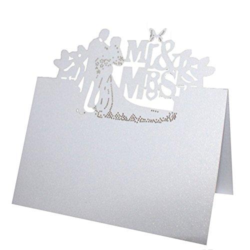 n Gedeck Name Karte Herr Frau Tabellenformat Hochzeit Dekor Tisch Karten 50pcs (Name Ort Karten)