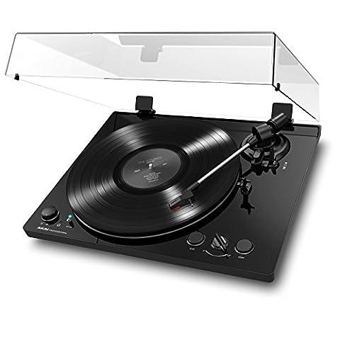 AKAI Professional BT100 Platine Vinyle Bluetooth à Entrainement par Courroie 2 Vitesses et Convertion USB– Finition Noire