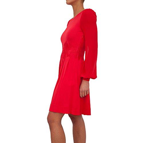 Michael Kors Michael Michael Kors Womens ELEV Lace Combo DRS Rot Kurze Kleider S
