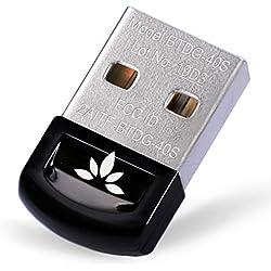 Avantree DG40S USB Bluetooth 4.0 Adaptateur Dongle pour PC Windows 10, 8, 7, XP, Vista, Plug & Play ou Pilote IVT, pour équipements Bluetooth, Casques, Enceintes, Souris, Clavier