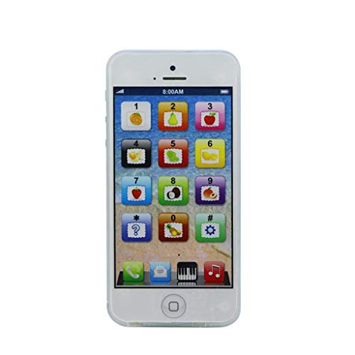 siwetg Bebé, niño, niño, Aprendizaje Educativo, teléfono móvil, Juguete, Equipo de reproducción Musical, teléfono. (Blanco)