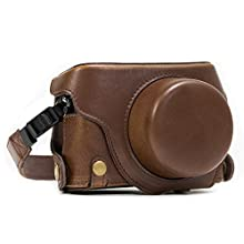 "MegaGear""Ever Ready"" Protective Leather Case Bag for Panasonic Lumix LX100/DMC-LX100 Camera - Dark Brown"