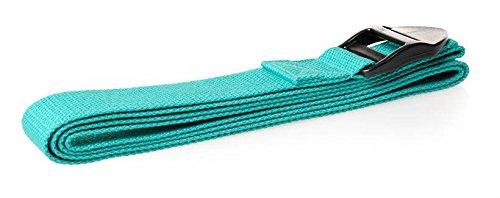 Trendy Yoga Gurt grün 190x4x0,1cm Fitness Stretch Gürtel Gymnastik Pilates