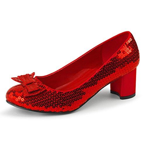 r von Oz-Schuhe Dorothy-01 rot Gr. 38 (Pailletten Dorothy Kostüme)