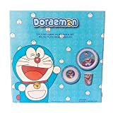 #5: Doraemon Kids Multicolor Dinner Set with Plate Bowl and Glass