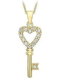 Carissima Gold Collar de mujer con oro de 9K (375/1000), circonita, 46 cm