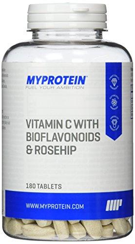 #Myprotein Vitamin C (1000 mg) mit Bioflavonoids und Rosehip (Hagebutte)  180 Caps, 1er Pack (1 x 187 g)#