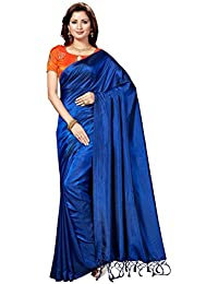 Rani Saahiba Art Silk Saree With Embroidery Blouse