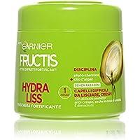 Garnier Fructis Hydra Liss Maschera per Capelli Difficili da Lisciare, 300 ml