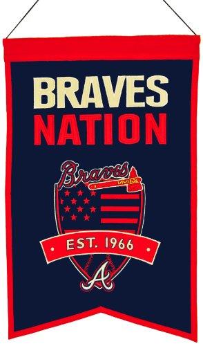 Atlanta Braves Wolle Nationen Banner (Maus-pad-basketball)