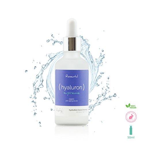 Rosental Organics Hyaluron Serum extra hochdosiert, bio Anti Aging Hyaluronsäure, Feuchtigkeitspflege für das Gesicht, Naturkosmetik vegan...