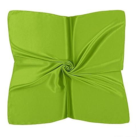 PB-SOAR Einfarbiger Schal Bandana Halstuch Kopftuch Nickituch, 13 Farben auswählbar (Neon Grün)