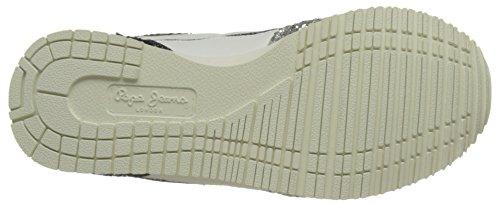 Pepe Jeans - Sydney Glitter, Scarpe da ginnastica Bambina Grigio (Silver Grey)