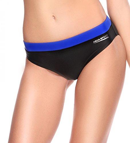 AQUA-SPEED® FIONA SET - Tankini + Slip da bikini | Tessuto VITA | Resistente al cloro/crema solare/olio, Taglia:40, Colore:139 / Black Gray Pink + Hose 15. Set Schwarz – Blau + Bikinihose