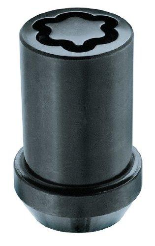 Écrous Antivol Tuner (Noir) M14X1,5, Embase Conique, Longueur Totale 41,8 mm, Ouverture de la Clé 22 mm, Diamètre de la Clé 20,2 mm