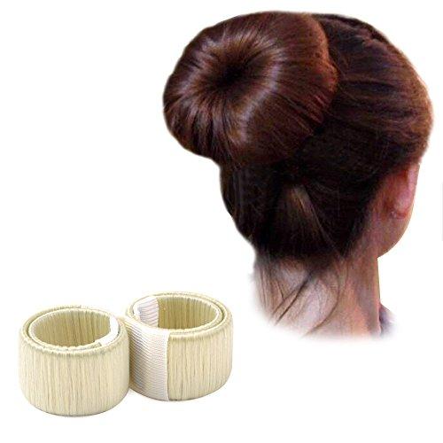 Mangotree 2 Pack Damen Mode Haarstyling Werkzeug Donut Haare Dutt Maker Brautfrisur Tool DIY Magie Werkzeug Brautschmuck Rolle - Perfekt für Lange Haare