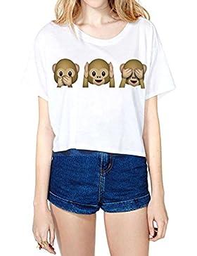 Jiayiqi De Mujeres De La Historieta Encantadora De Impresión Delgado Camisetas De Manga Corta De La Camiseta