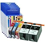 5 Chipped Compatible HP 920XL Ink Cartridges (1 Set plus 1 extra Black) for HP 6000 6500 6500A 7000 7500 7500A Printers