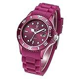 DR8990 Silikon-Kunststoff-Quarz-Uhr-Armband, Unisex, wasserdicht MEHRWEG