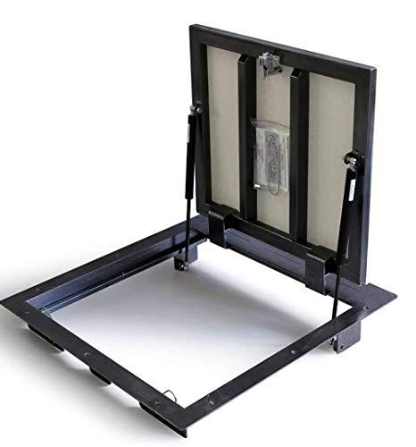 Schachtabdeckung 700mm x 600 mm (P) - Seitenscharniere, Bodenluke Schachtdeckel Revisionsschacht Kanalschacht