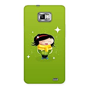 Cute Laughing Girl Back Case Cover for Galaxy S2