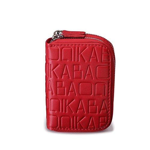Baonika  Monedero,  Damen Herren Unisex - Erwachsene Münzbörse, rot (Mehrfarbig) - K858