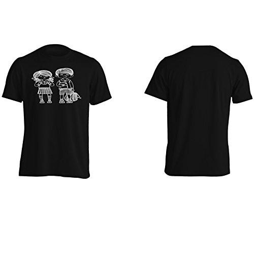 Indietro Bambini Bambini Scolastici Uomo T-shirt m957m Black