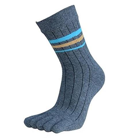Socken herren Kolylong Baumwolle Sport Socken Five Finger Dunkelgrau (Kniehohe Slippers)