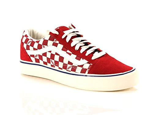vans-unisex-adulto-old-skool-lite-chili-marshmallow-tela-suede-sneakers-rosso-41-eu