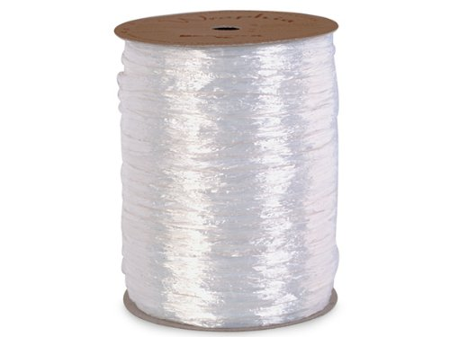 Pearlized White Raffia 500 Yds