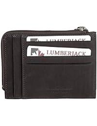 Cartera hombre LUMBERJACK marrón oscuro cuero bolsillo tarjetas de credito A5485