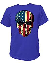 Artdiktat T-Shirt Camiseta para hombre - AMERICAN FLAG SKULL