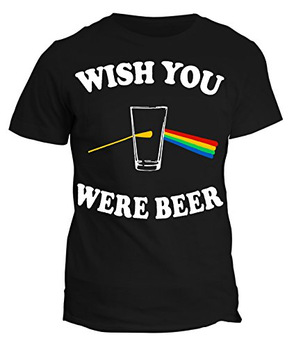 Tshirt wish you were beer - humor - in cotone by Fashwork Nero
