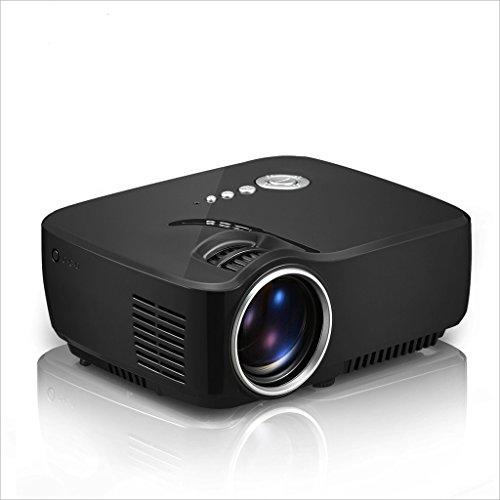 XHZNDZ Proyector Panel LED de LED de 4.0 Pulgadas con Fuente de luz LED 600: 1 Estático, dinámico hasta 10,000: 1, Mini proyector de Video portátil para películas caseras para