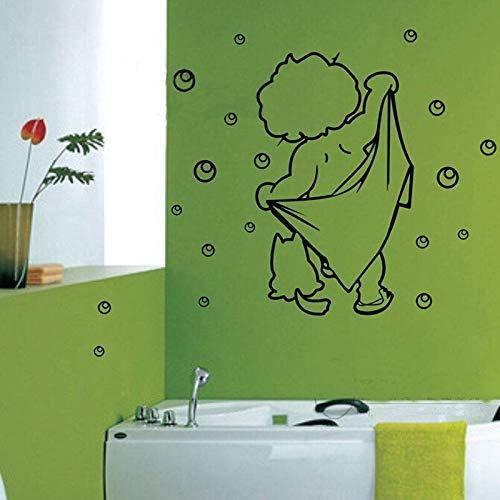 Schöne kinder baden vinyl wandaufkleber wasserdichte cartoon stil baby bad/wc dekoration 56X38CM Mustangs Wc