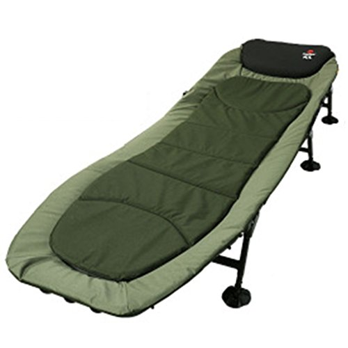 Ren Chang Jia Shi Pin Firm Feldbetten Klappbett Einzelbett Siesta Bett Grünes Büro einfaches Tuch Bett Camping Bett begleitendes Bett (Color : Green, Size : 200*65*30 cm)