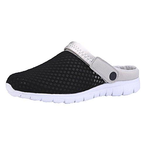 Hibote Unisex Adultos Pantuflas de Malla Respirable Sandalias Zapatos de Mulas Zapatos de Mulas Sandalias R R de Verano/Andar/Sandalias de Playa Antideslizantes 42