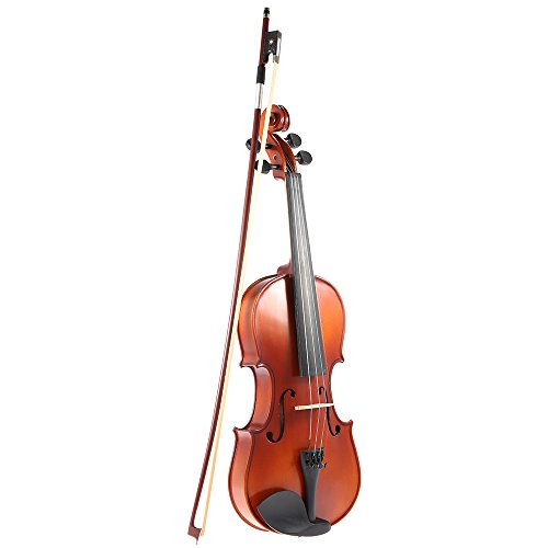 Ammoon Violin Geigen Fiddle 4/4 Größe solide Holz antike Violine Geige Matte Finish Fichte Gesicht Vollpension mit Hard Case Bow Rosin