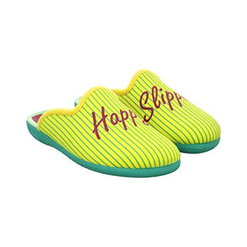 Happy Slipper W-happy, Mules pour Femme Jaune