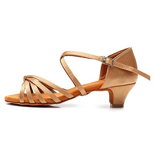 SWDZM Mujer/Niñas Zapatos de Baile/estándar de Zapatos de Baile Latino Satén Ballroom Modelo ES-XGG...