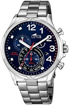 Lotus 10126/3 - Reloj de pulsera hombre, Acero inoxidable, color Plateado