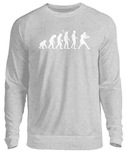 shirt-o-magic Boxen: Evolution Boxer - Unisex Pullover -3XL-Grau (Meliert) -